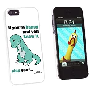 Graphics and More T-Rex Can't Clap Hands - If You're Happy and You Know It Snap-On Hard Protective Case for Apple iPhone 6 plus 5.5 - Non-Retail Packaging - White