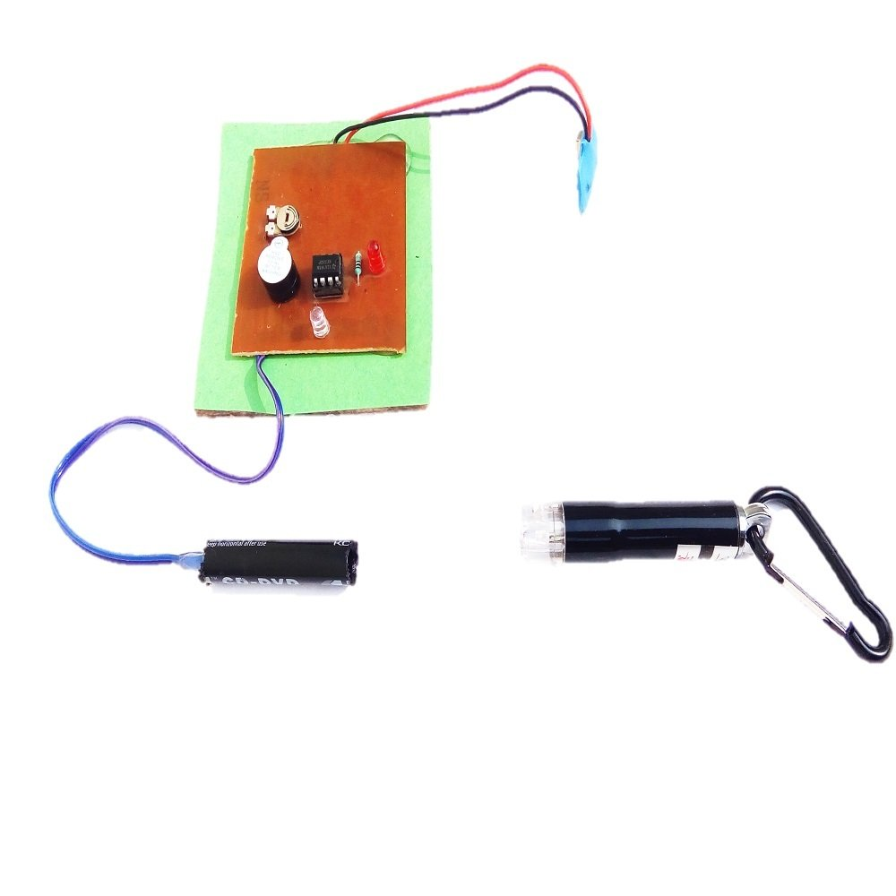 Buy Sr Robotics Laser Alarm Circuit Ldr Based Security System Ultrasonic Motion Detector Circuits Free Electronic Multicolour Online At Low Prices In India
