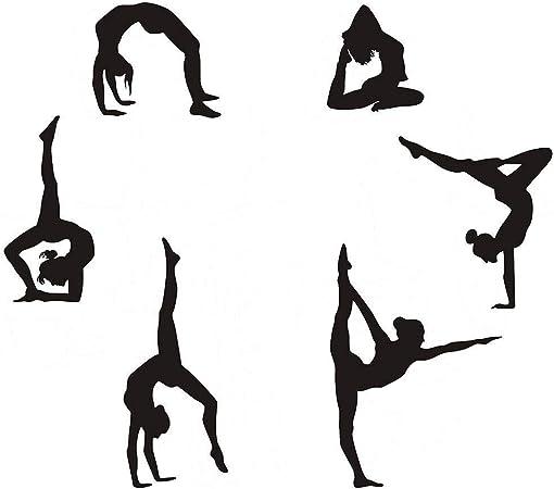 Autocollants muraux fille Fitness Gym motivation sport santé Art Décalques Vinyle Home