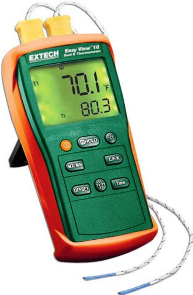 Extech EA10 Easyview Thermocouple Thermometer - Dual Channel EXTECH-FLIR COMMERCIAL SYSTEMS INC 9500106