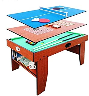 WJSWHW Deluxe 4 en 1 Top Game Table Multifunción Steady Combo ...