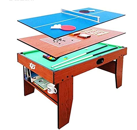 YUHT Mesa multijuegos,Función Multi Juego de Mesa 54 5 en 1 Entretenimiento Mesa de Billar, ajedrez, Gobang, Tenis de Mesa, Escritorio con el Consejo de Ministros for niños y Adultos: Amazon.es: Deportes