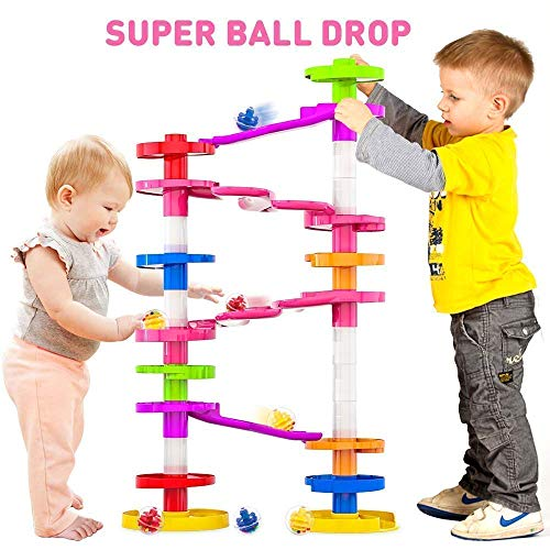 WEofferwhatYOUwant Super Ball Drop with Double Bridge and Spacers for High and More Stable Structures for Advanced Babies Toddlers and Preschool for Ages 10 Months to Adults