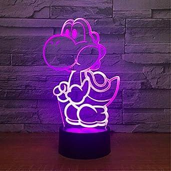 Figure Lampe De 3d Dessinée Super Led Usb Yoshi Bande Mario Jeu SMUqpzV