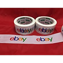 2 Official eBay Branded BOPP Packaging Tape Shipping Supplies Multi-Color