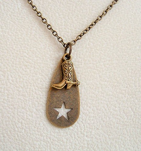 Antiqued Brass 24 Inch Necklace Horse Lover Gift Idea ()