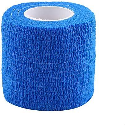 Selbsthaftende Bandage, Fydun 5 Rollen/Set Wasserdichtes Selbstklebender Verband Verbandband Fingergelenke Wrap Sports Care (Blau)