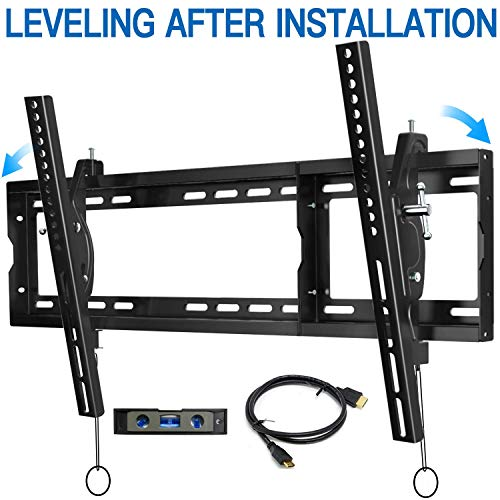 BLUE STONE Tilt TV Wall Mount Bracket for Most 32-83 inches up to 165lbs,Max VESA 600x400mm,Low Profile Universal for…