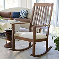 Finley Home Upholstered Mission Wood Nursery Rocker - Weathered Espresso