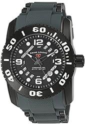 Swiss Legend Men's 'Commander Pro' Swiss Quartz Stainless Steel Casual Watch (Model: 10069-BB-01-GRYS)