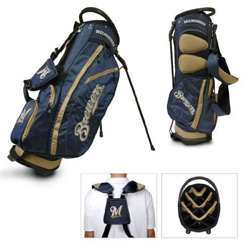 Milwaukee Brewers Team Fleece - MLB Milwaukee Brewers Fairway Stand Golf Bag, Navy