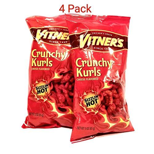 - Vitner's Sizzlin Hot Cheese Crunchy Curls A Chicago Original 4-3oz Bags