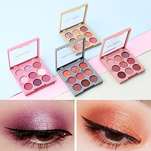 HXS Color Matte Eyeshadow Palette, Highly Pigmented Eye Makeup Palettes, Natural Blendable Long-Lasting Waterproof Small Pallets Eyeshadow, Shimmer Make Up Eye Shadows Cosmetics Gift Kit