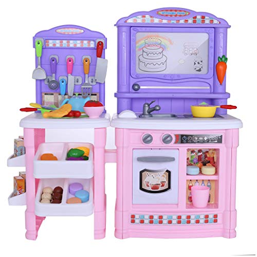 Basde Toy Pots and Pans Kitchen Toys, Simulates The Kitchen Toy Simulates The Steam Water SprayChildren's Kitchen Toy, Best Interaction Gifts for Boys and Girls