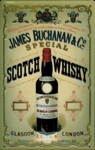 James Buchanan & Co. Scotch Whisky Cartel de chapa Cartel ...