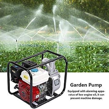 Bomba de Agua de Gasolina 6.5HP Bomba de Riego de Jardín de Alta Eficiencia Bomba de Agua de Trasvase para Jardín, Estanque de Peces, Piscina: Amazon.es: Bricolaje y herramientas