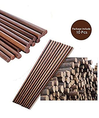 reusable,for Home Kitchen Resturant 10 Pairs Chinese Natural Bamboo Chopsticks