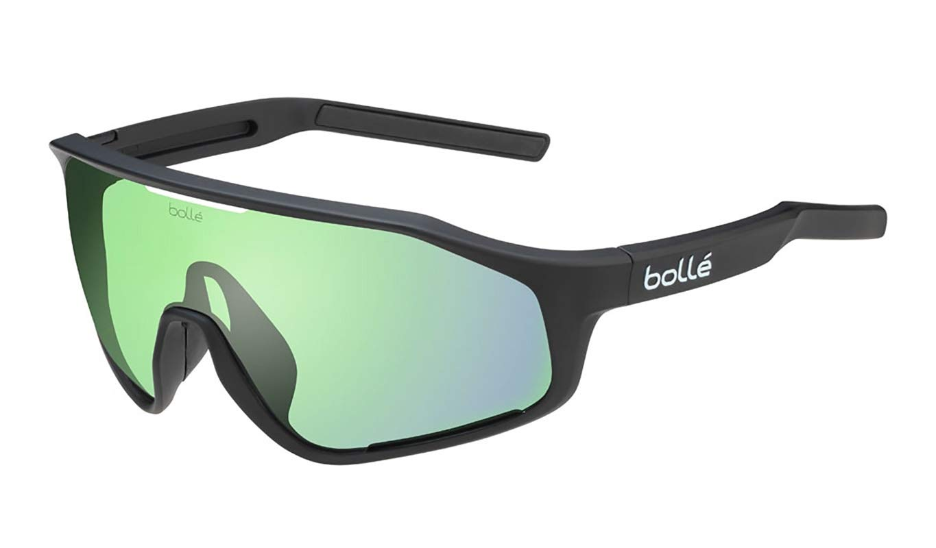 Bolle 12504 Shifter Matte Black Sunglasses Green Lenses, Green by Bolle