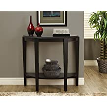 """Monarch Specialties I 2450 Cappuccino Hall Console Accent Table, 36"""""""