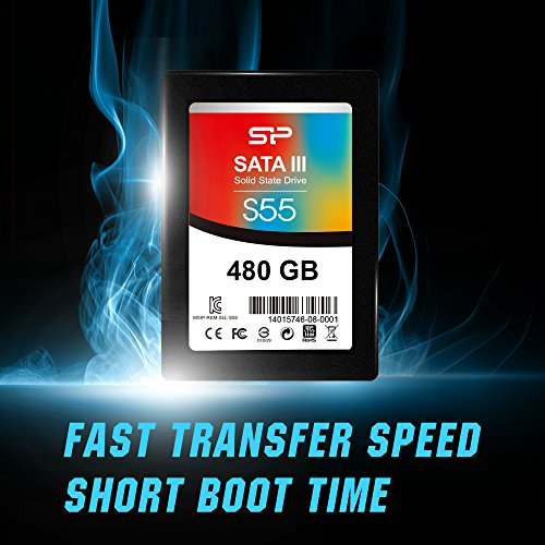 Silicon Power 480GB SSD S55 TLC (SLC Cache Performance Boost) SATA III 2.5'' 7mm (0.28'') Internal Solid State Drive- Free-download SSD Health Monitor Tool Included (SP480GBSS3S55S25AE) by Silicon Power (Image #2)