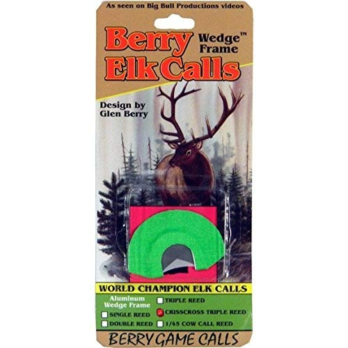 Berry Game Calls Wedge Frame CrissCross Triple Reed Elk Call