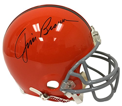 Jim Brown Signed Cleveland Browns Full Size Authentic Helmet JSA ()