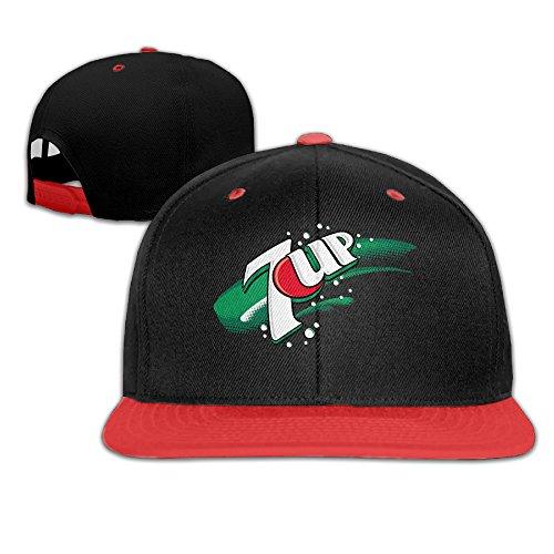 nadaki-7up-logo-unisex-adjustable-hip-hop-baseball-cap-red