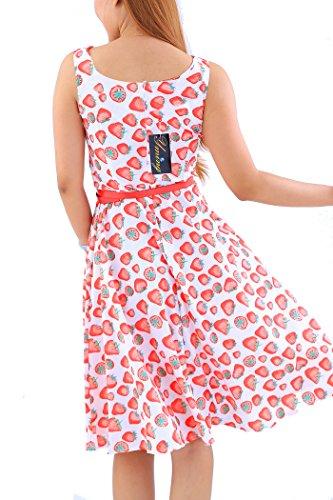 Vendimia tamaño Hepburn oscilación el Vestido Rojo Clase Tienen Fresa YMing Las de Dijo Que Blanco Mujeres de Estilo de la del más xnzOgHaq