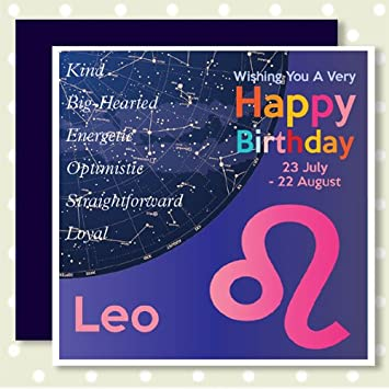 HEAVENLY Happy Birthday Cards LEO 23rd July