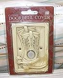 Ceramic Doorbell Cover Cowboy Boots- Light