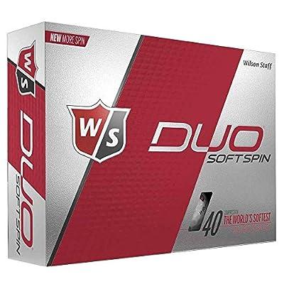6 Dozen Wilson Staff Duo Soft Spin Golf Balls - White