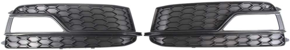 Moligh doll 2Pcs Front Honeycomb Lower Bumper Side Grille Fog Light Hole Fits for A5 Sline S5 2012-2016