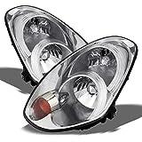 Infiniti G35 4 Door Sedan Chrome OE Replacement Headlights Driver/Passenger Head Lamps Pair New