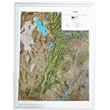 Amazoncom US Raised Relief Topographical Map D Rand - Relief map us