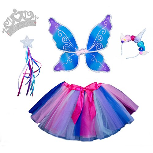 Fairy Princess Dress Up - Magical Unicorn Sparkling Fairy Princess Set