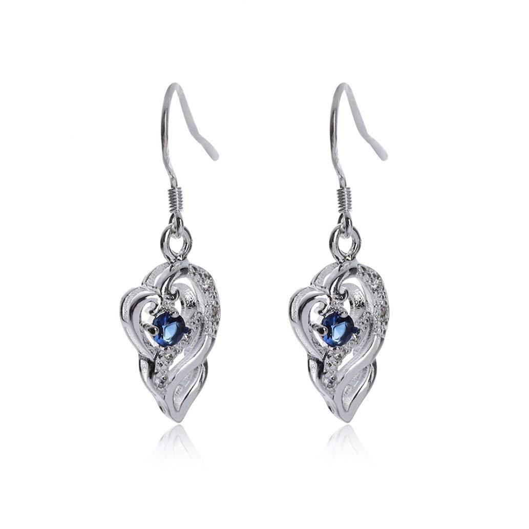 KISSFRIDAY Fashion creative women sapphire irregular earrings valentines gifts jewelery