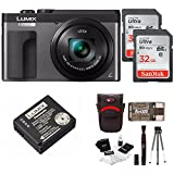 Cheap Panasonic DC-ZS70K Lumix 20.3MP, 4K Touch Enabled 3″ LCD, 180 Degree Flip-Front Display, 30x Lens 64GB Bundle