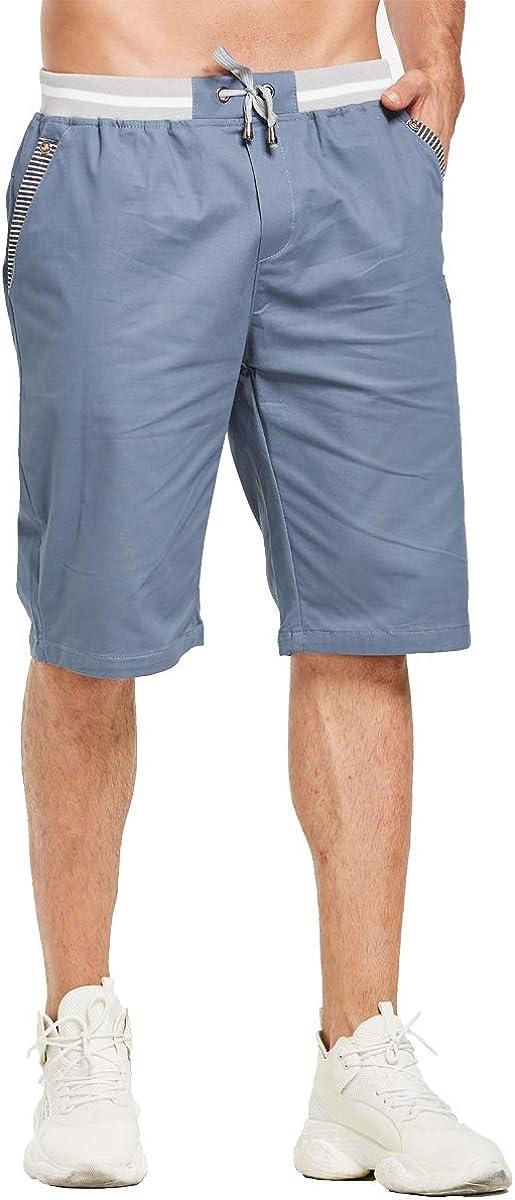 Tansozer Kurze Hosen Herren Bermuda Shorts Herren Sommer Chino Gummizug