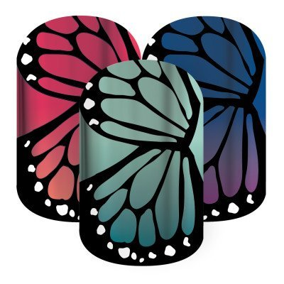 Jamberry Nail Wraps~ Butterfly Bliss~ Half Sheet