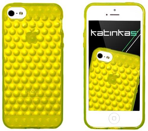 Invisible shield-set complet de films de protection 3D souple aqua katinkas-étui pour apple iPhone 5 jaune