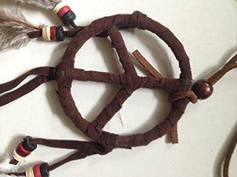 Peace Dream Catcher Keychain Diameter 2 Inch 1 Pcs. (necklace)