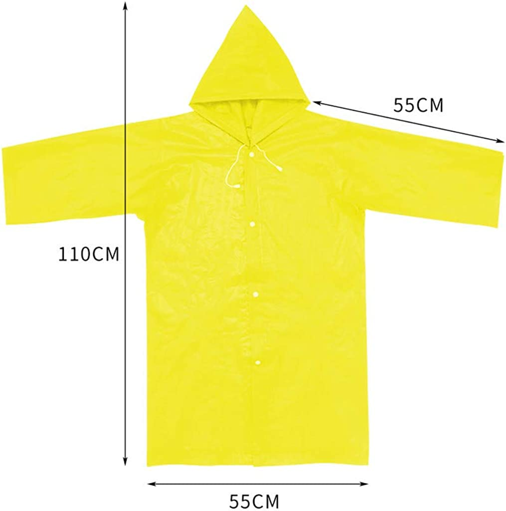 Kids Hooded Jacket Rainsuit Rain Poncho Raincoat Cover Long Rainwear for Outdoor Activities Shenye Boys /& Girls Raincoat