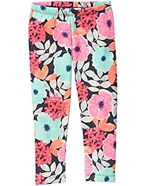 Baby Girls' Floral Cozy Fleece Legging