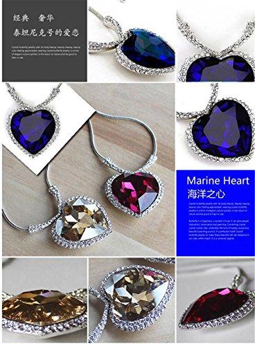 4f02796355189 Huge Titanic Heart Of The Ocean Sapphire Blue CZ Crystal Necklace  Pendant-blue