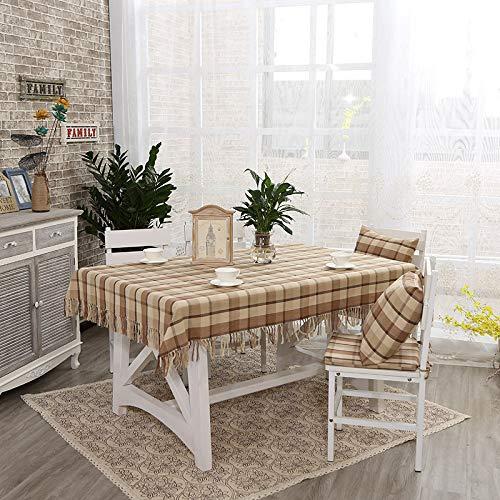 C 135220cm Myzixuan Nappe frangée coton chanvre domestique table rectangulaire nappe Tables dinantes tissu cuisine nappe