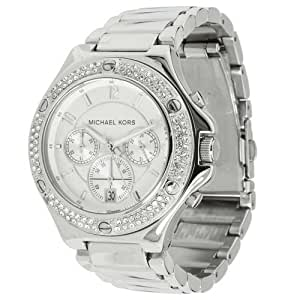 Michael Kors MK5513 Women's Stainless Steel Silver Dial Crystal Chronograph Watch