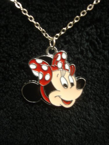 (Minnie Mouse Pendant and Chain INCLUDES Gift Box by)