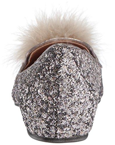 Kenneth Cole REACTION Womens Gen-ie Bottle Glitter Feather Pom Ballet Flat Bronze tbP9wqyrn7