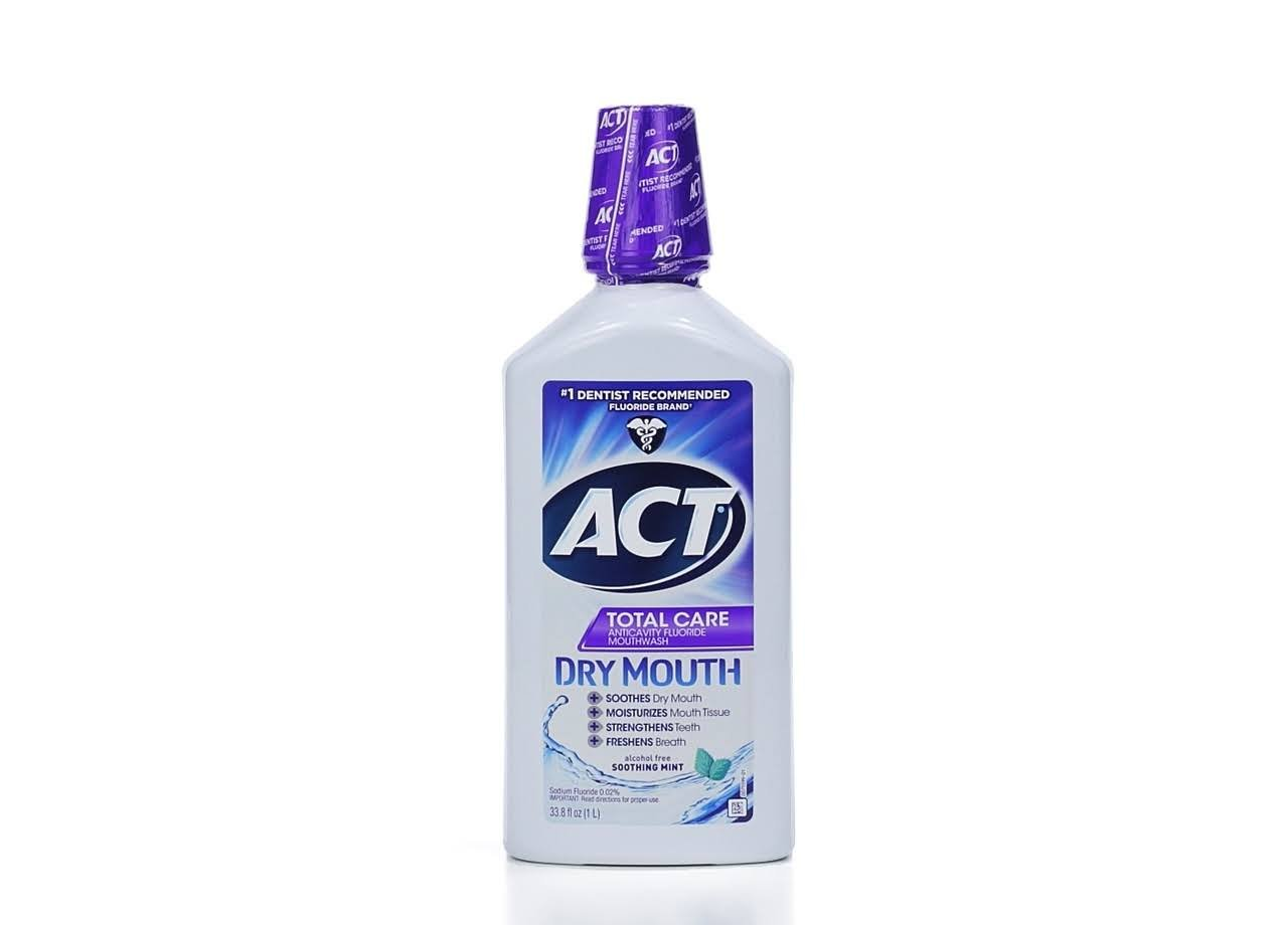 ACT Total Care Anticavity Fluoride Mouthwash Dry Mouth, 33.8 Ounce Chattem 9683