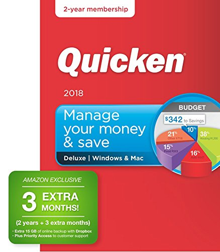 Quicken Deluxe 2018 Release – [Amazon Exclusive] 27-Month Personal Finance & Budgeting Membership